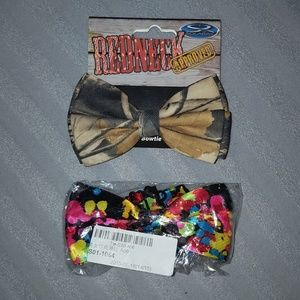 New Bundle of 2 Novelty Bow Ties